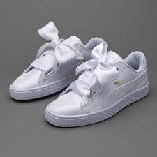 puma basket heart patent leather