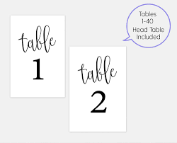 Number Template Basic Black 2424 Table Numbers Template 24