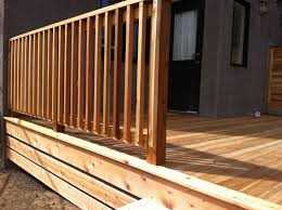Small Picture Outdoor Garden Intriguing Wooden Deck Railing Design Ideas With