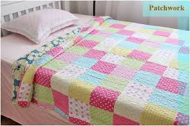 CLOSEOUT!!! 100% Cotton Kids Girls Queen Handmade Single Patchwork ... & 100% Cotton Kids Girls Queen Handmade Single Patchwork quilt Material  Fabric Cover Egypt cotton 60 Fabric Quilt-in Quilts from Home & Garden on  ... Adamdwight.com