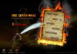 Flash Website Templates Unique Fire Department Dynamic Flash Template On Behance