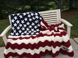 Crochet American Flag Free Patterns & Wavy American Flag Free Crochet Blanket Pattern Adamdwight.com