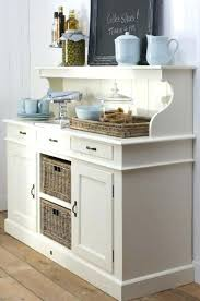 kitchen credenza wicker baskets and white credenza hutch using open shelves and baby blue china for