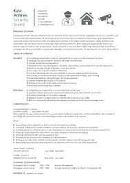 Security Officer Resume Inspiration Security Officer Resume Template And Security Guard Resume Template