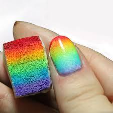 Amazon.com: CJESLNA 12pcs Gradient Nails Soft Sponges for Color ...