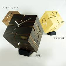 wood desk clock designs