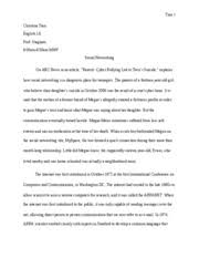 sociology essay tran christina tran sociology prof  10 pages english 1a essay 5 introduction
