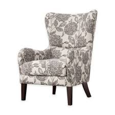 white wingback chair. Madison Park Arianna Swoop Wing Chair In White/Grey White Wingback O