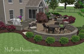 Small Picture Large Paver Patio Design with Grill Station Seat Walls
