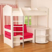 neat bunk bed, desk, couch and bookshelf all in one would be really nice in  a small teen bedroom