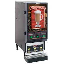 Fresh O Matic Vending Machines Custom Bunn FMD48 Hot Powdered Drink Machine 48 Hoppers Cafe Display 48v