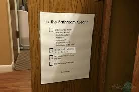 Bathroom Chart For Kids Teaching Kids To Clean The Bathroom Free Printable