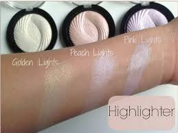 makeup revolution baked highlighters in golden lights peach lights pink lights