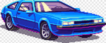Desktop wallpapers and high definition images of the bugatti eb110 ss (1992). 1980s Car Pixel Art Bit 80s Arcade Games Compact Car Blue Png Pngegg