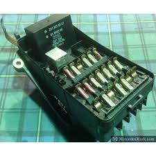 w genuine mercedes none ac complete fuse box lid