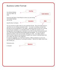Letter Format Business Template Resume Builder