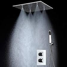 modern shower heads. Modren Modern LED Big Rain Shower Faucets Modern Ceiling 20u0027u0027 Showerheads Panel  304 Stainless Steel And Heads D