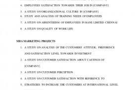 004 Project Titles Mba Dissertations Report Lva1 App6892