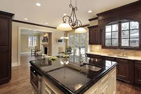 Dark Granite Kitchen Countertops Dark Kitchen Cabinets With Light Granite Countertops Outofhome
