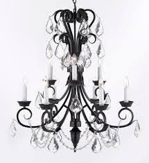 kitchen elegant wrought iron chandelier with crystals 29 a84 b127246 3 pretty wrought iron chandelier with
