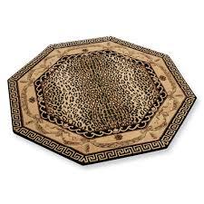 greek key leopard area rug