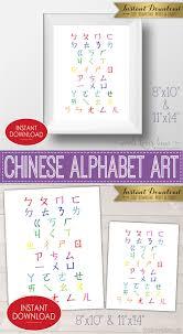 Printable Chinese Alphabet Poster 8x10 11x14 Bopomofo