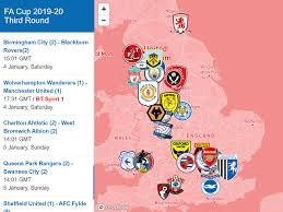 Cup giants cup super liga uncaf clubs cup afc champions league afc cup gcc nasional (211) piala afrika africa cup of nations qualification kualifikasi pd afrika african nations. Fa Cup 3rd Round Interactive Map Fa Cup Cup Interactive Map