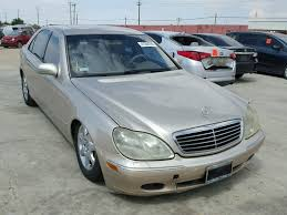 2000 mercedes benz s class is one of the successful releases of mercedes benz. Used Car Mercedes Benz S Class 2000 Gold For Sale In Sun Valley Ca Online Auction Wdbng75j9ya131170