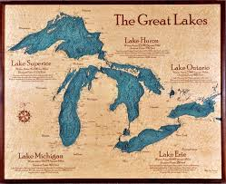 Great Lakes Navigation Charts Chart Art Wall Art