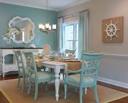 blue dining rooms. dining room - mid-sized beach style medium tone wood floor idea in blue rooms