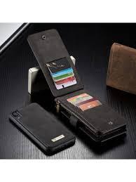 luxury iphone xr leather detachable wallet case