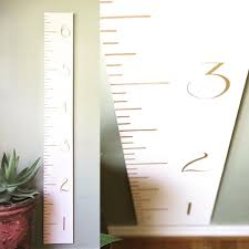 White Growth Chart White And Gold Growth Chart Ruler Nursery Decor Perfect