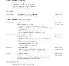 Babysitter Resume Template Impressive Sample Child Care Resume Babysitting Resume Template Babysitting