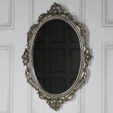 ornate antique silver wall mirror
