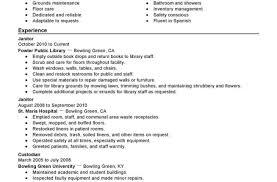 Janitorial Resume Objective Vozmitut