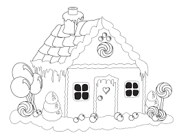 Small Picture Printable gingerbread house coloring pages for kids ColoringStar