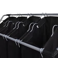 Wäschekörbe Mit Taschen 2 Stück Schwarz Und Grau Wäschekörbe