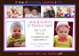 fabulous 1st birthday invitation wording for twins