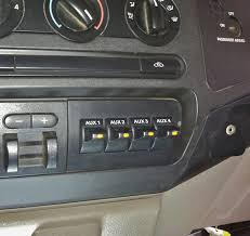 car audio tips tricks and how to s ford f series super duty ford f150 f250 f350 f450 f550 super duty factory upfitter aux switches