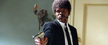 samuel l jackson by quentin tarantino ezekiel the path  samuel l jackson by quentin tarantino ezekiel 25 17 the path of the righteous man pulp fiction 1994 speakola