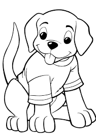 Free printable coloring pages for children that you can print out and color. Coloring Pages Cute Dog Coloring Page For Kids