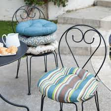 seat cushions for outdoor metal chairs. black iron chair using pretty papasan cushion for patio furniture ideas seat cushions outdoor metal chairs