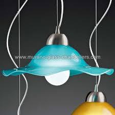 mariluna murano glass pendant light 1 light light blue