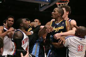 Image result for basketball fight nba