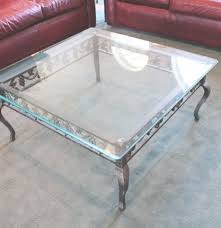 Wrought Iron And Glass Square Coffee Table ...
