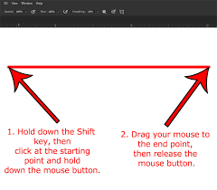 Dotted lines on different shapes. How To Draw A Straight Line In Adobe Photoshop Solve Your Tech