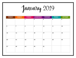 Point out the theme for the month and use it as a time to talk. Never Miss An Appointment In 2019 With This Brightly Colored Printable Calendar 2019 Wall Calendar Pages Calendar Printables Planner Calendar Calendar Pages