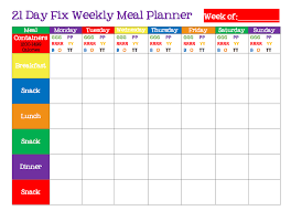 Weekly Meal Plan Best Nutrition Plan Resources