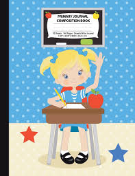 Eq School Of Hair Design Primary Journal Composition Book Blonde Hair Girl In