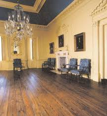 color plate 1 the hall at miles brewton house 1765 27 king street charleston the grandest hall i ever beheld azure bleu satten window curtains